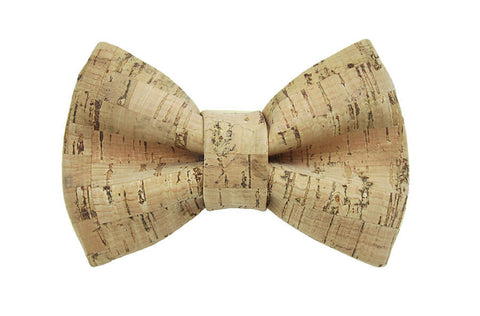 Cork - Natural Bow Tie