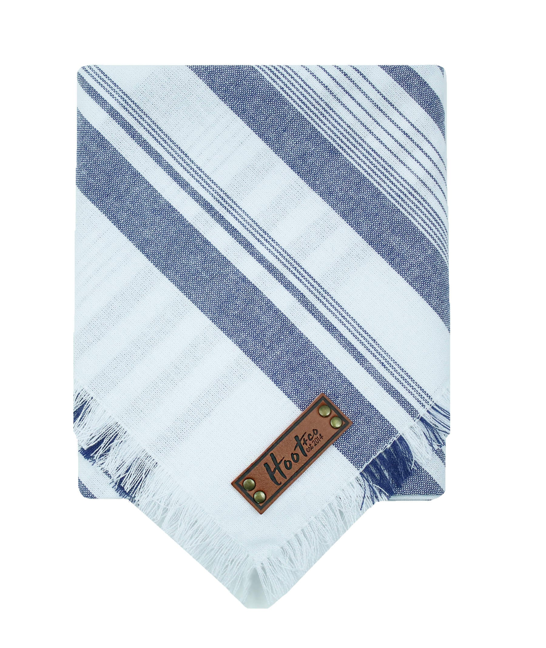 Denim Stripe Frayed Bandana