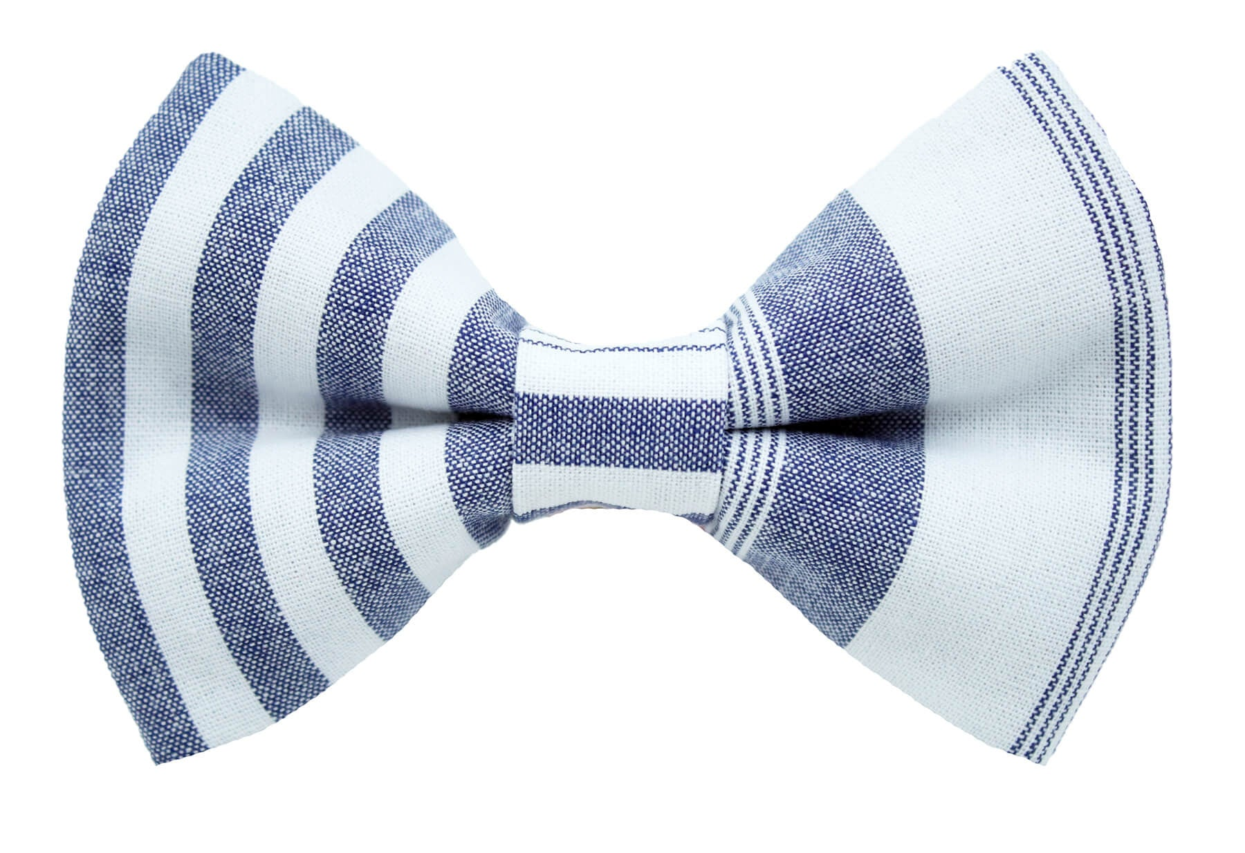 Denim Stripe Bow Tie
