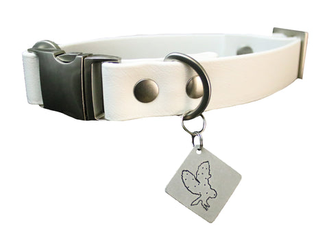 Ice Vegan Buckle Collar - Nickel Matte