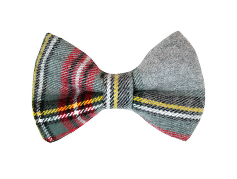 Storm Flannel Bow Tie