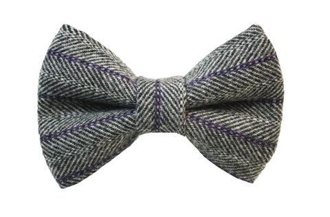 Hattie Herringbone Wool Bow Tie