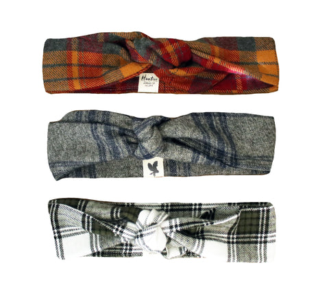 3 Pack Flannel Headbands