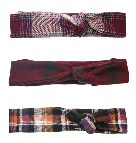 3 Pack Flannel Headbands CRR