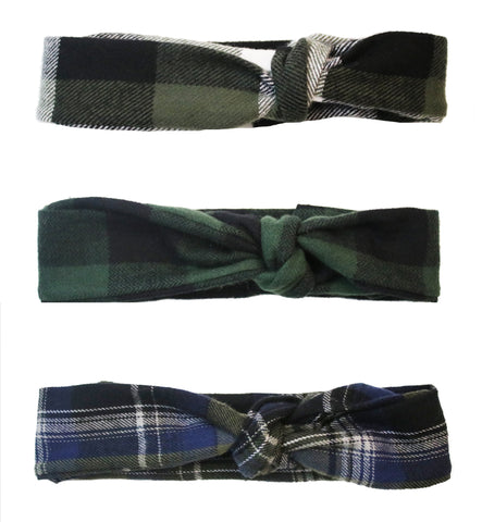 3 Pack Flannel Headbands AFC