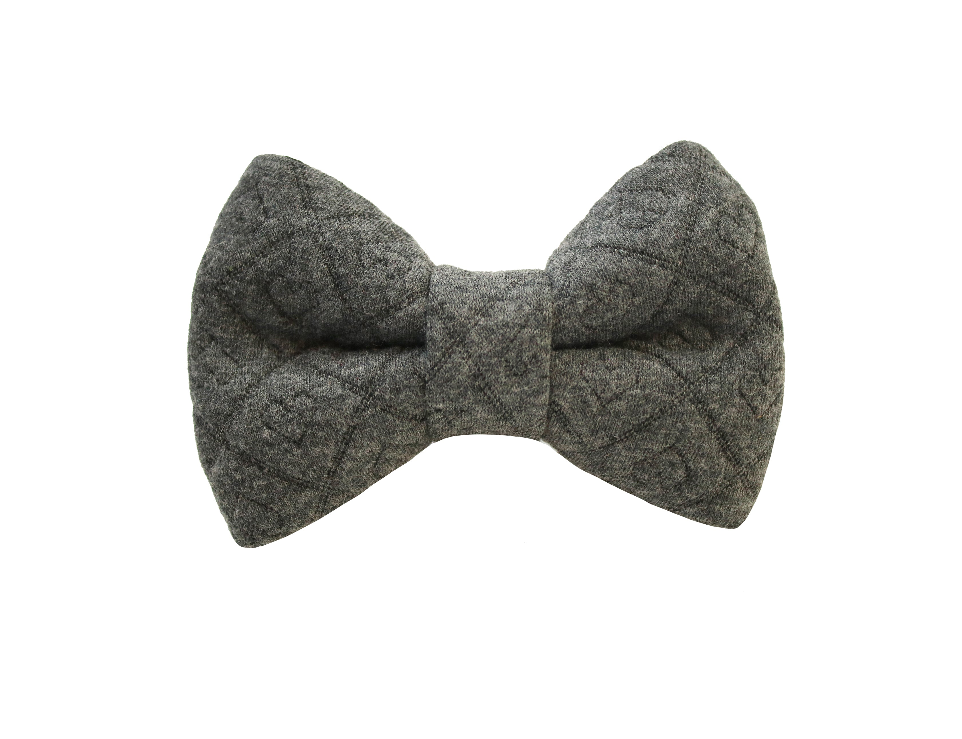 Sweater Hearts Grey Bow Tie