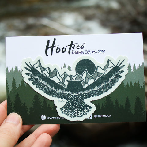 Owl Mountain Sticker