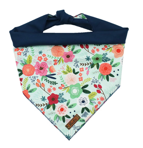 Bloom Mint Floral Rolled Bandana