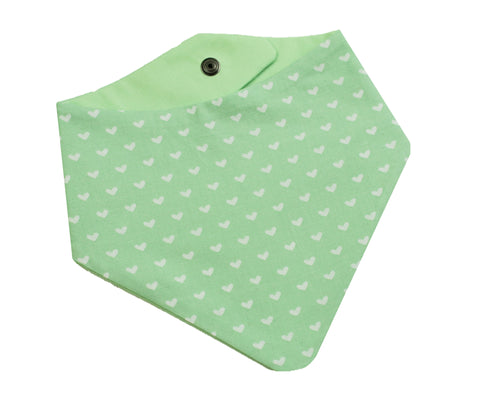 Mint Hearts Bandana