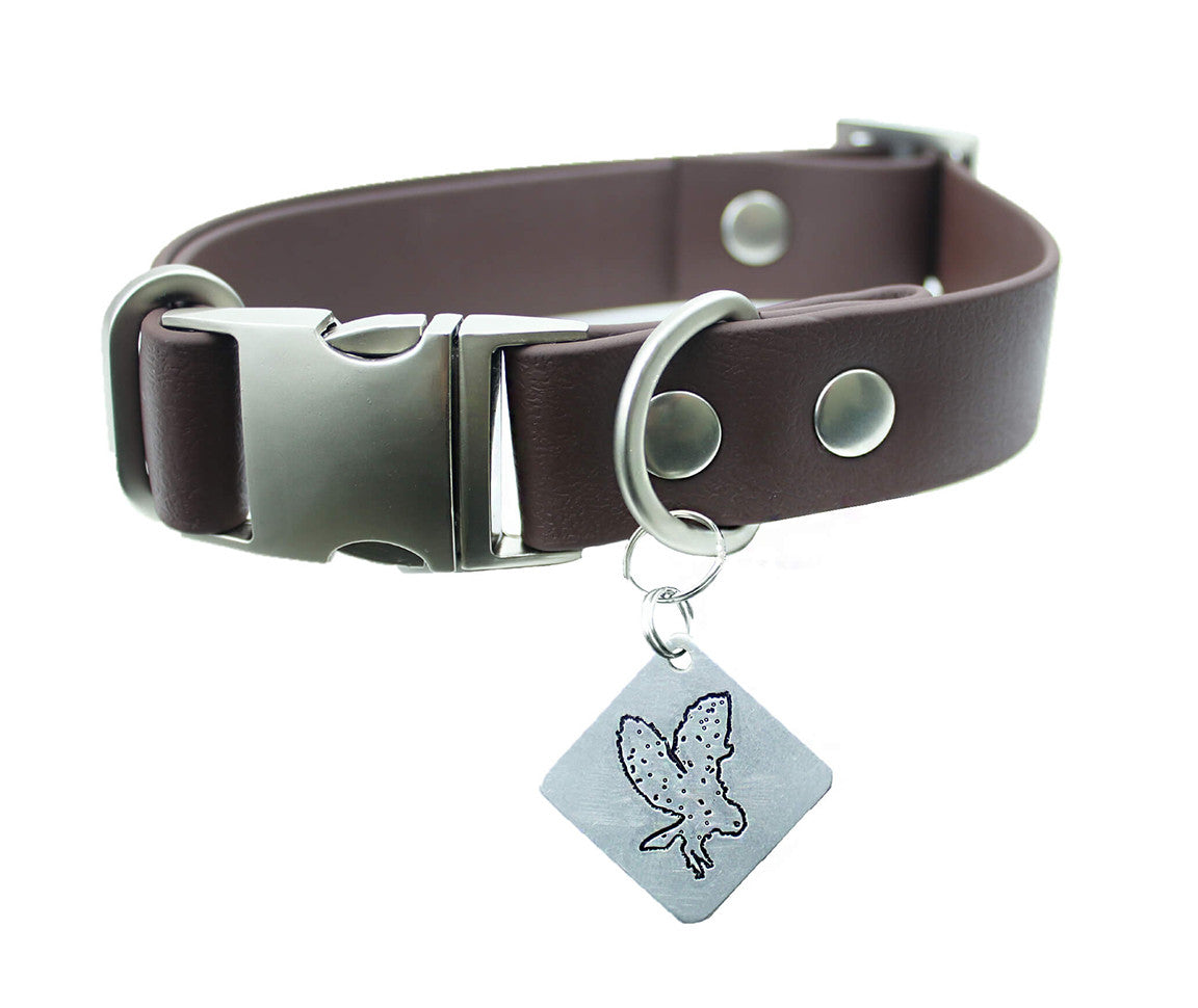 Cedar Vegan Buckle Collar - Nickel Matte