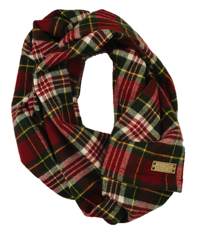 Monroe Flannel Infinity Scarf