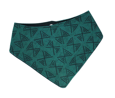 Arrows Green Waxed Canvas Bandana