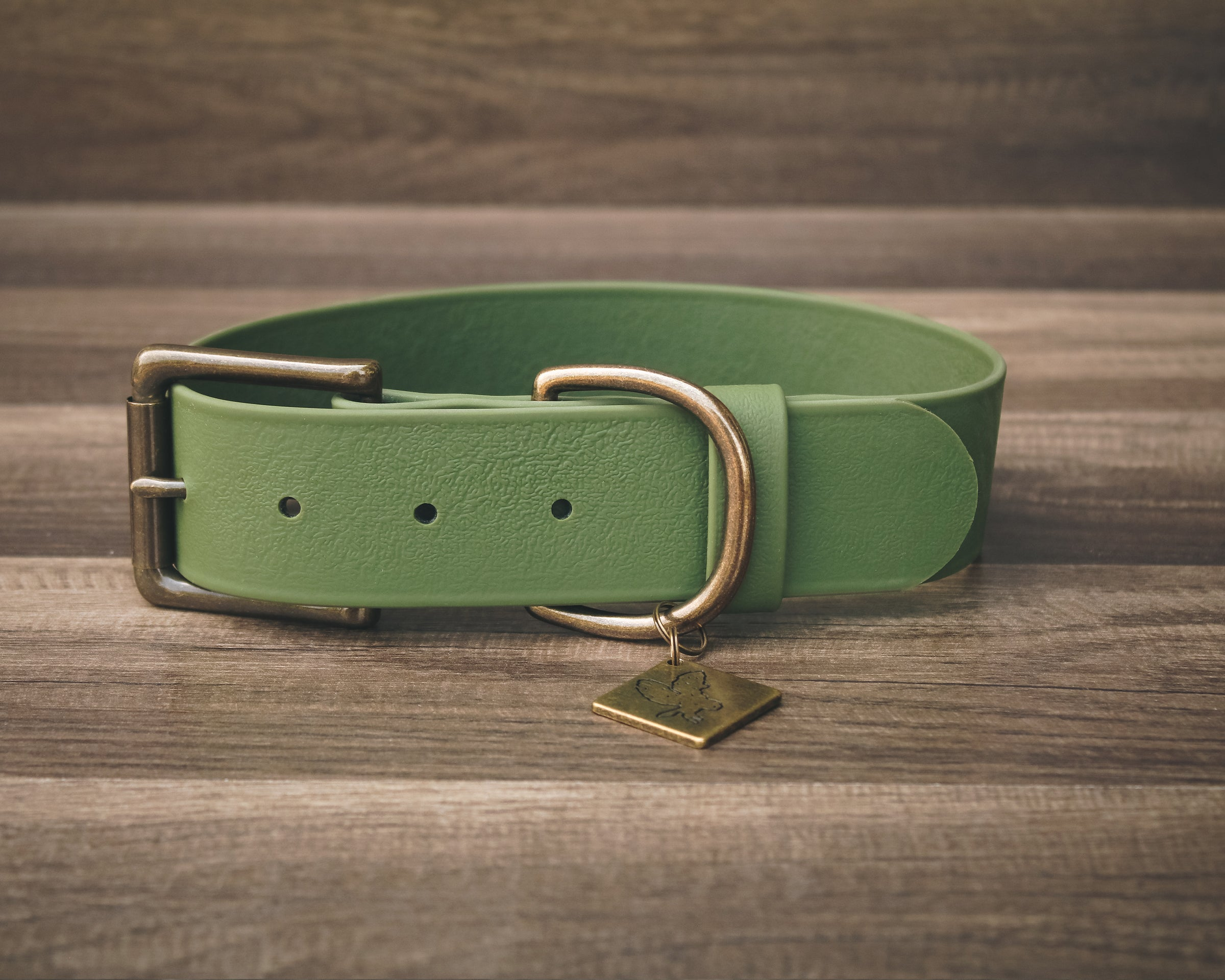 Olive Buckle Collar 1.5""
