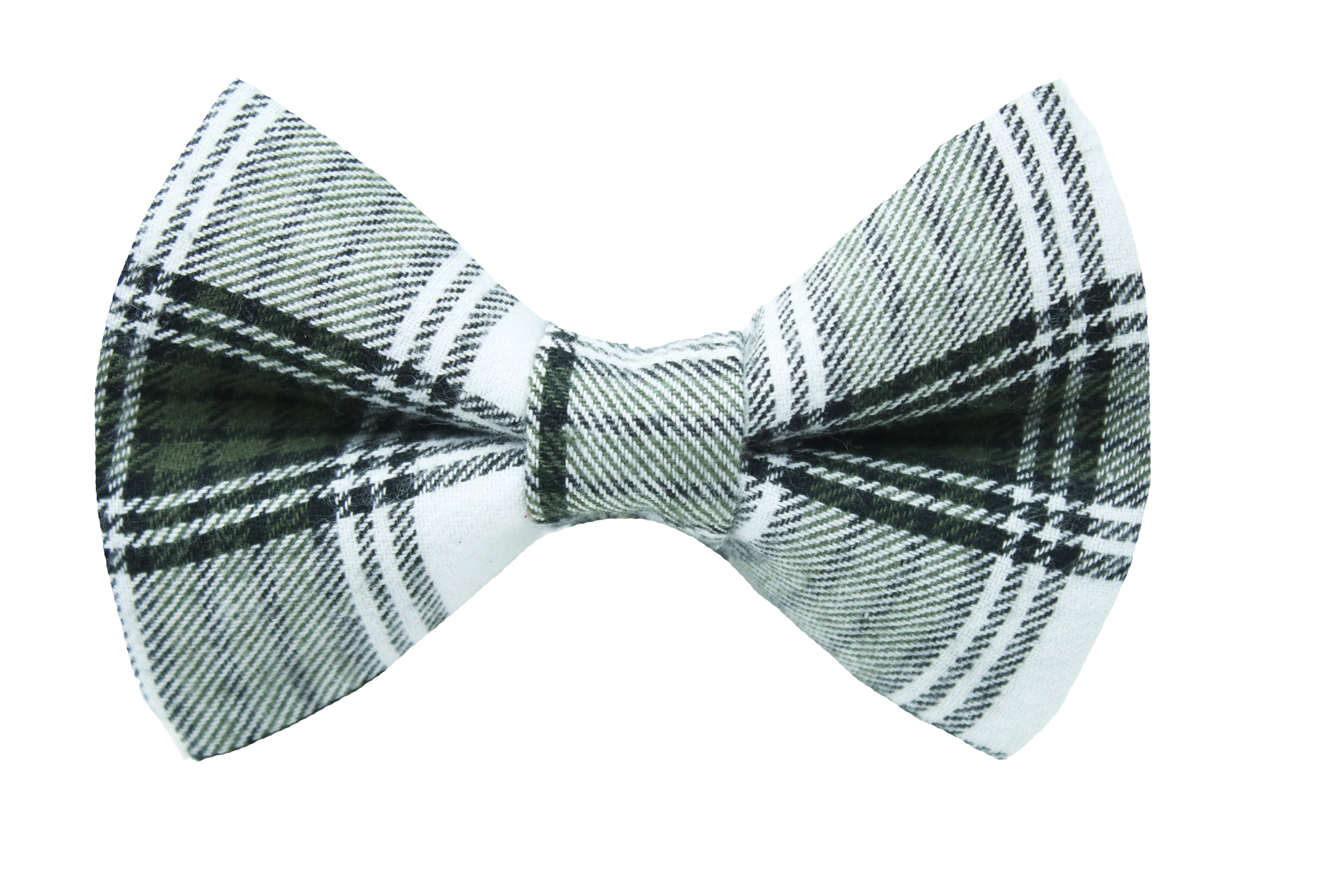 Olive Flannel Bow Tie