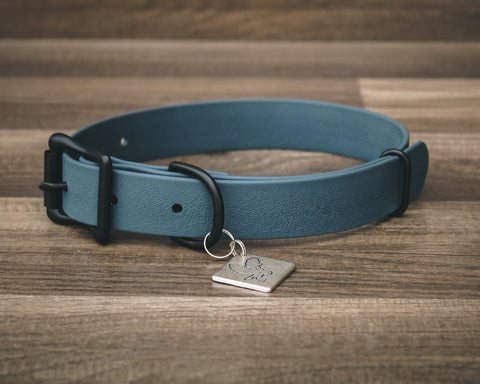Onyx Slate Blue Buckle Collar