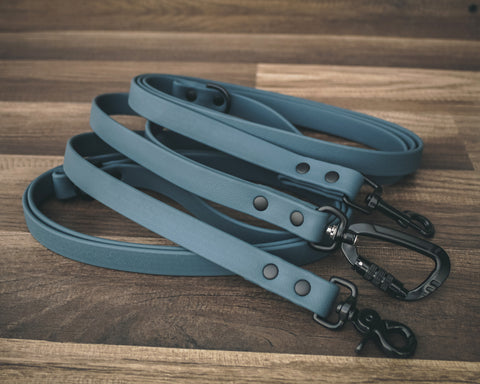 Onyx Slate Blue Leash