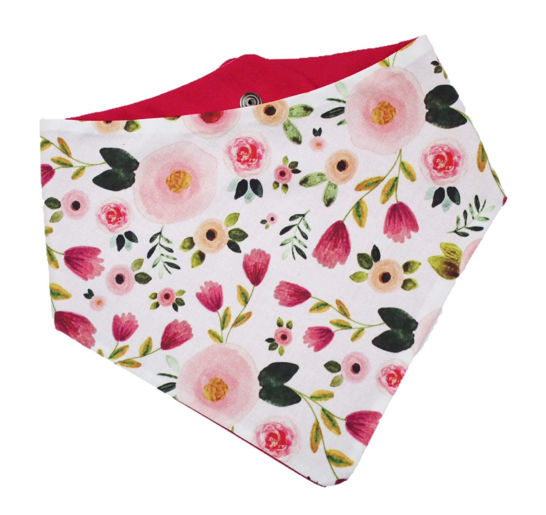 Watercolor Pink Floral Bandana