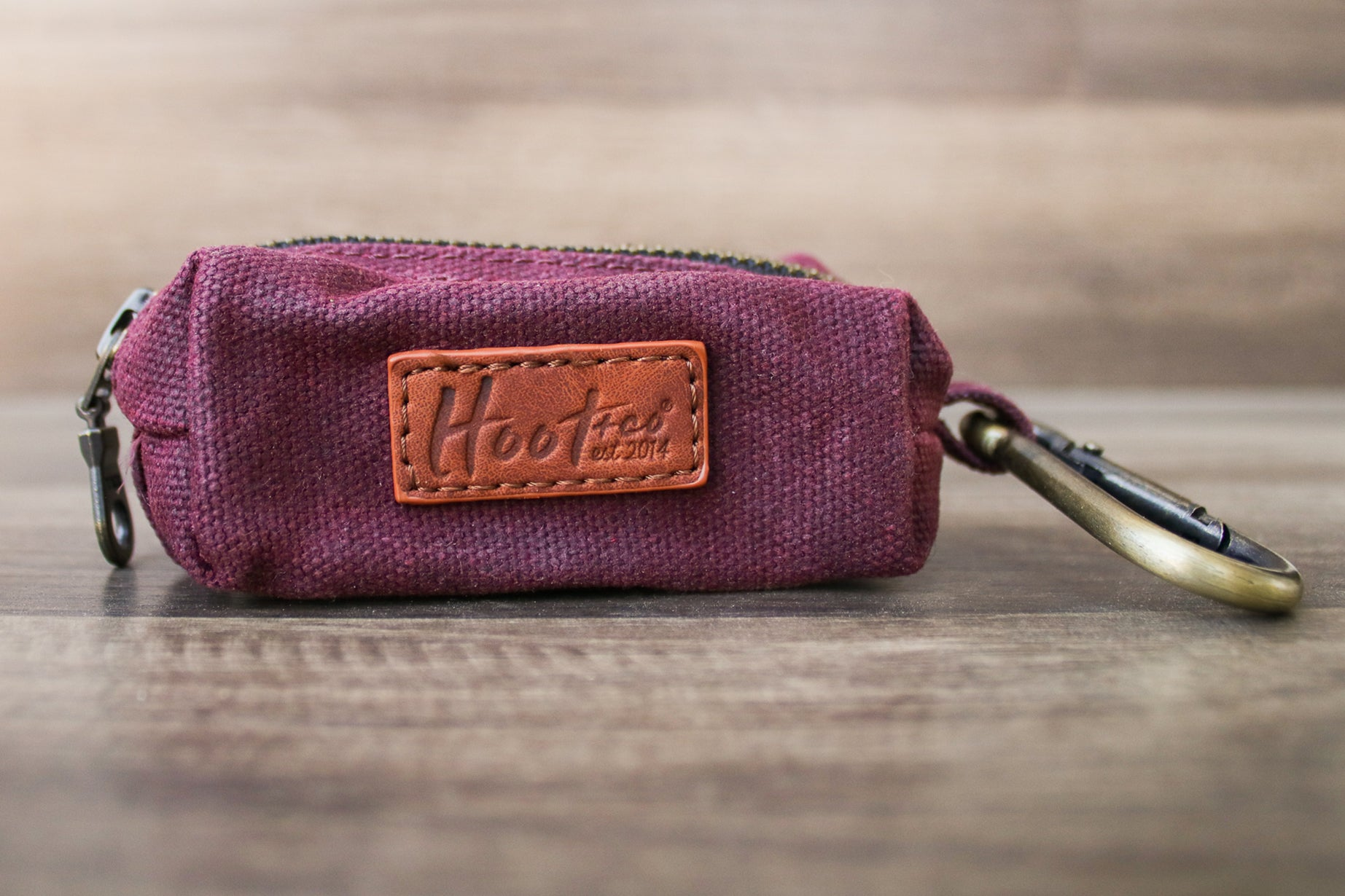 Waxed Canvas Poop Bag Holder - Slate Gray