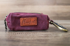 Waxed Canvas Poop Bag Holder - Plum