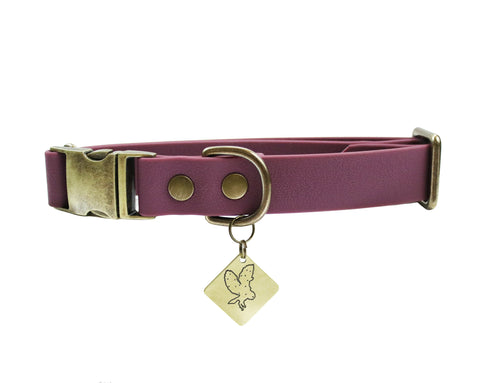 Plum Martingale Collar
