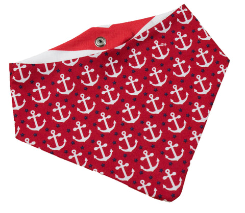 Anchor & Stripes Red Bandana