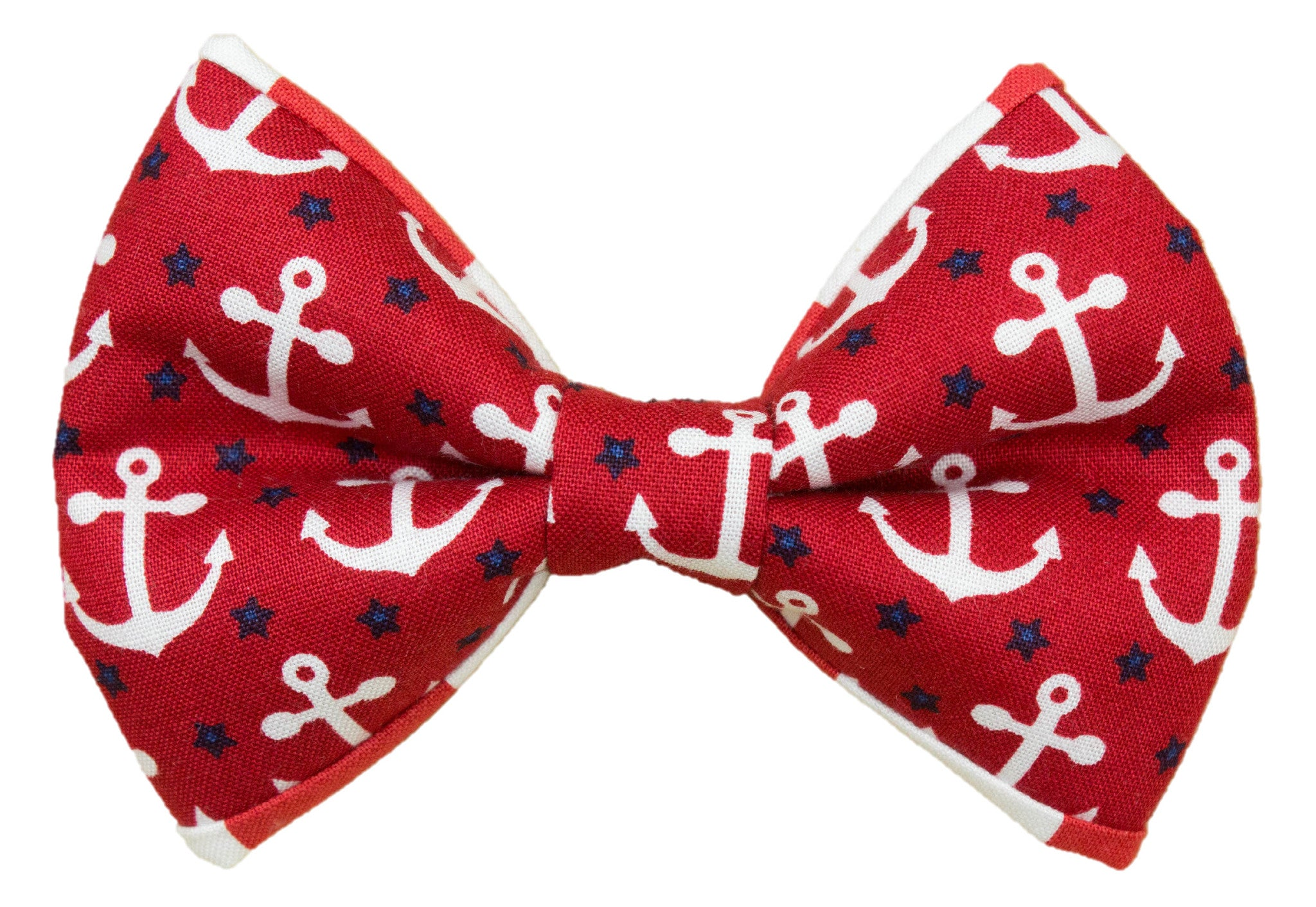 Anchors & Stripes Red Bow Tie