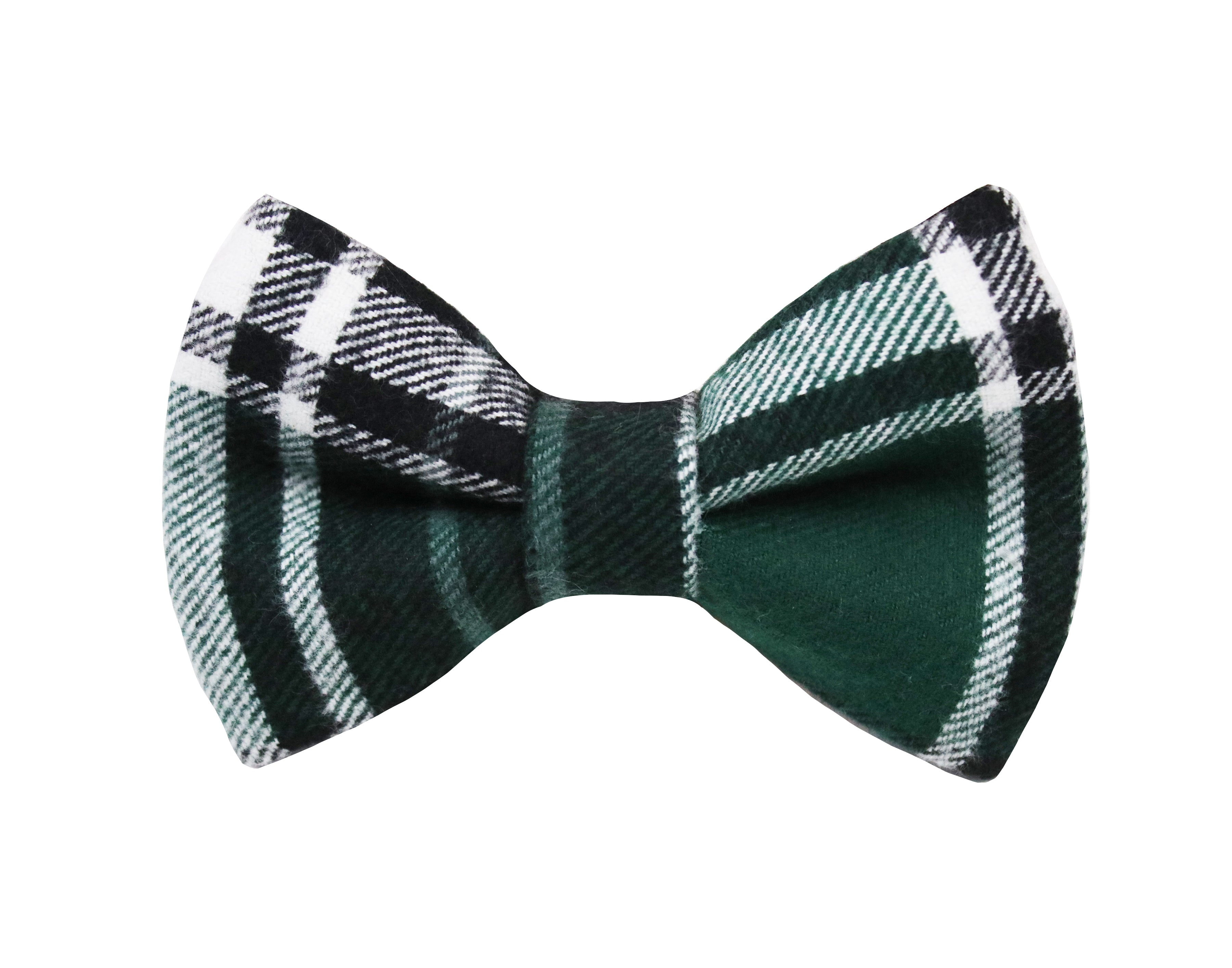 Spruce Flannel Bow Tie