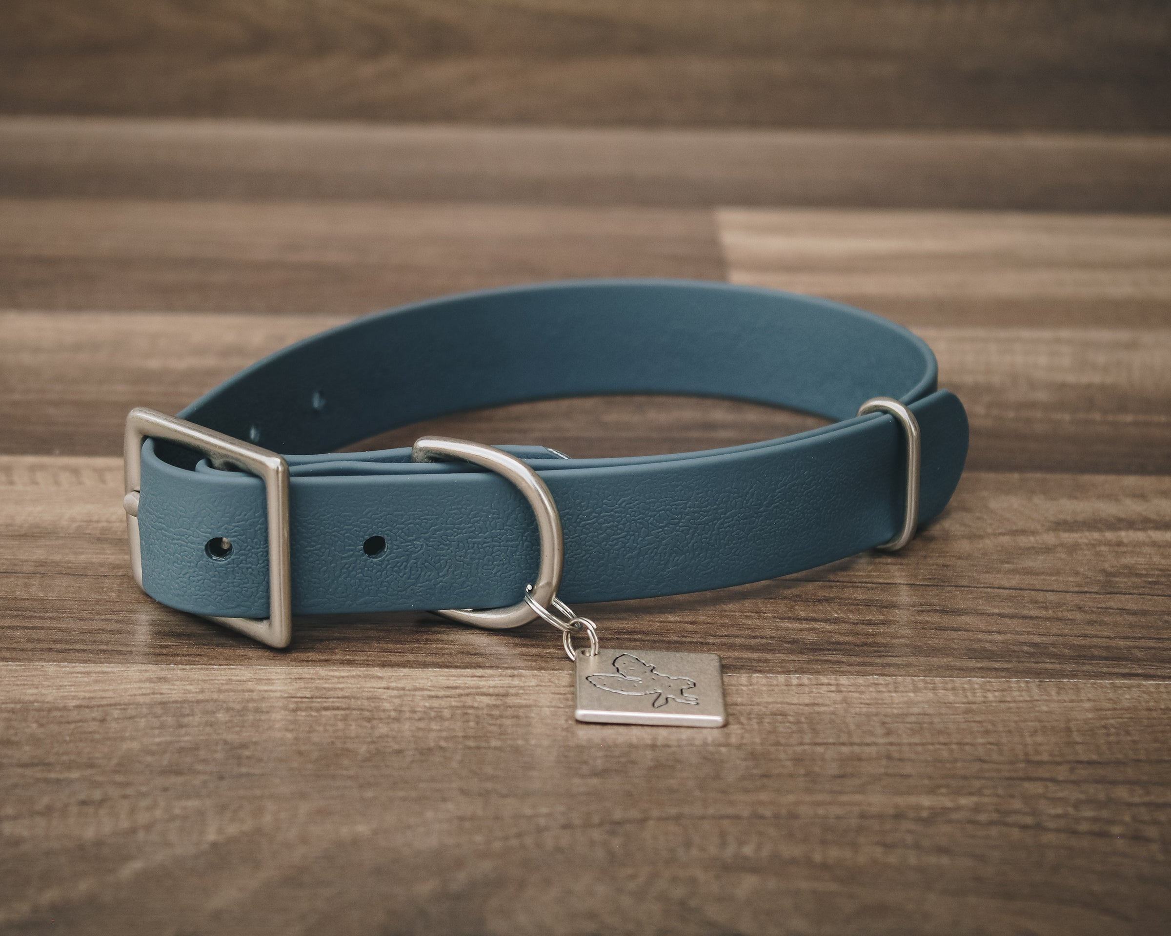 Slate Blue Buckle Collar