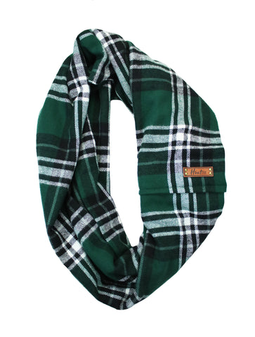 Spruce Flannel Infinity Scarf