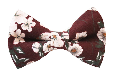 Lani Floral Bow Tie - Wine