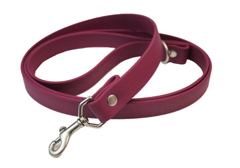 Wine Vegan Leash - Nickel Matte