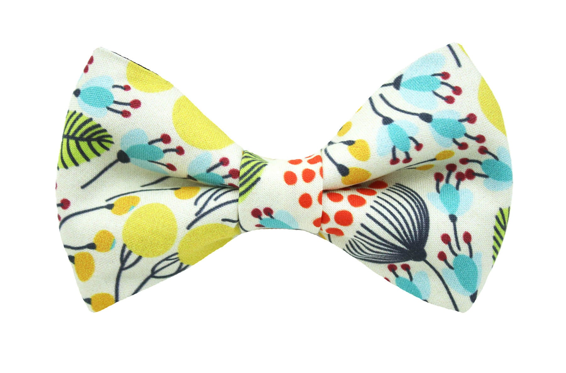 Canary Floral Bow Tie