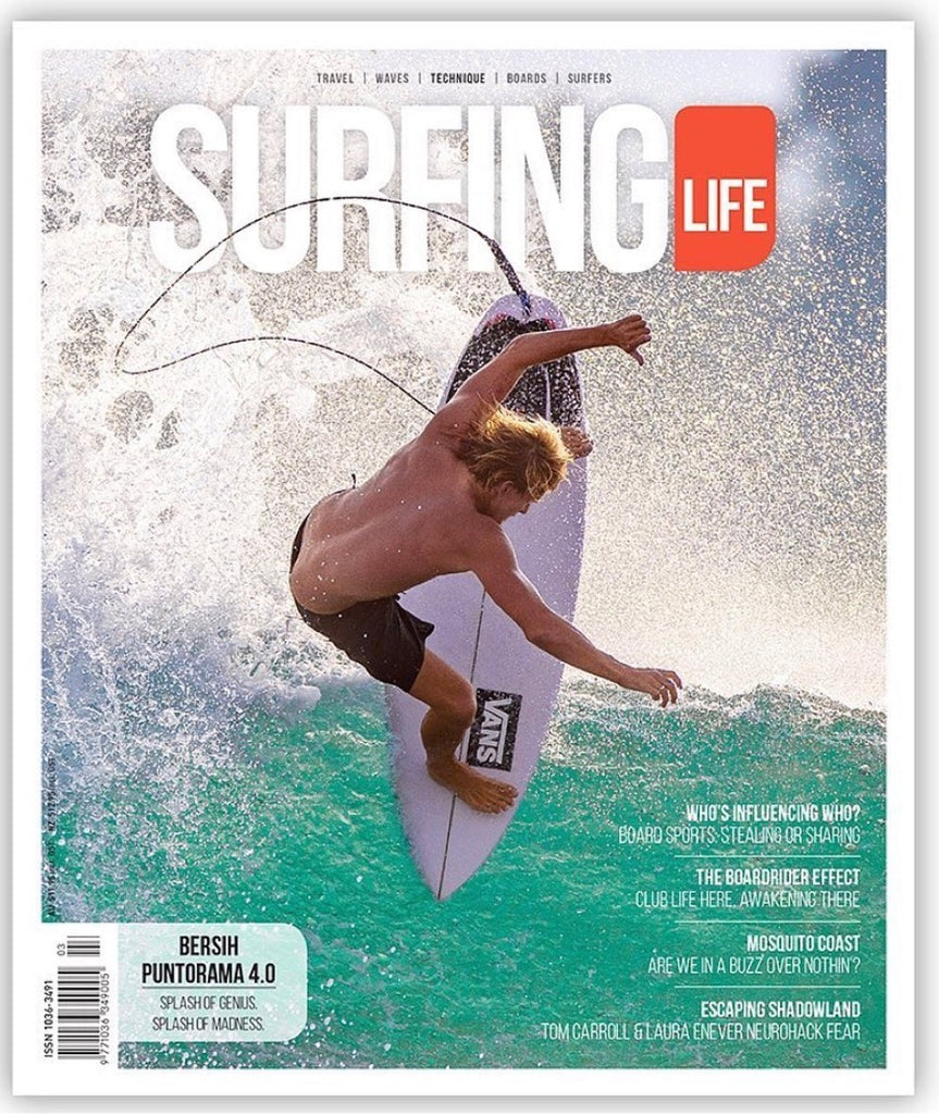 HARRY BRYANT FLYING ON THE COVER OF SURFING LIFE MAGAZINE!