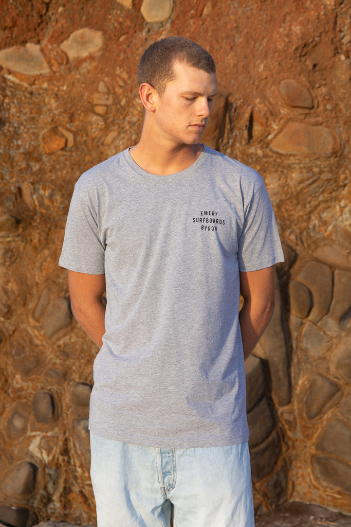 WORDS TEE / GREY MARLE