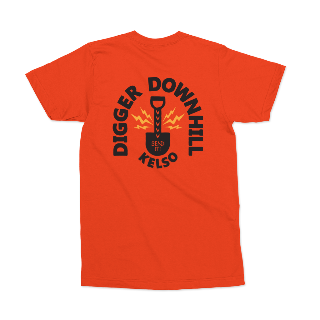 Digger Downhill Tee - Orange