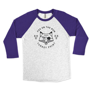 Unisex Fox On The Run 3/4 Raglan