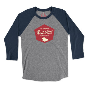 Unisex Red Hill Valley 3/4 Raglan