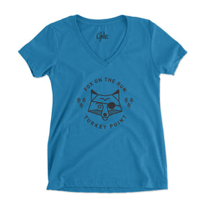 Women's Fox On The Run V-Neck