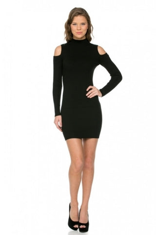 'Take Me Back' Cold Shoulder Mini