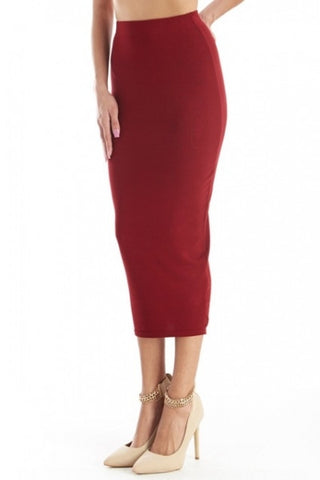'Angel' Solid Pencil Skirt