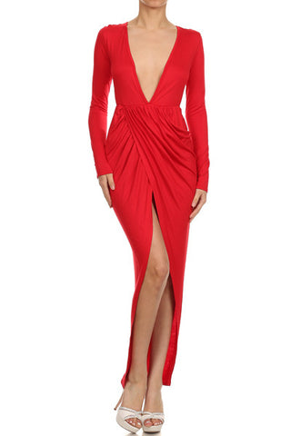 'Red Hot' High/Low Dress