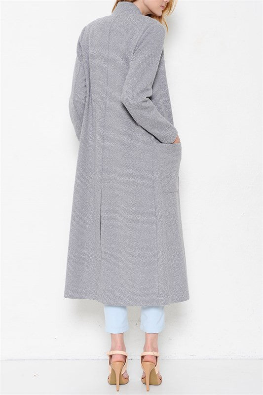 'Lilly' Light-Weight Over Coat Grey