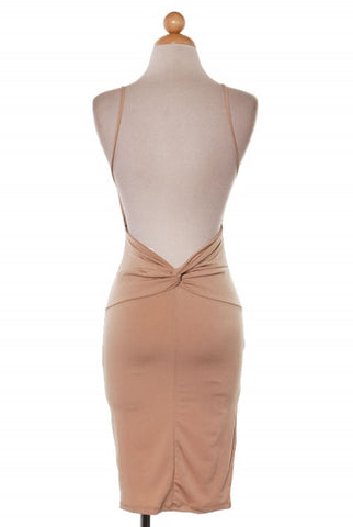 'Bare Me' Nude Bodycon Dress