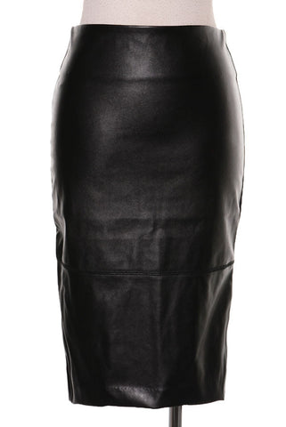 'Victoria' Vegan Leather Skirt