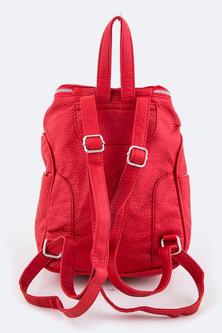 'Hot Tamale' Vegan Leather Backpack