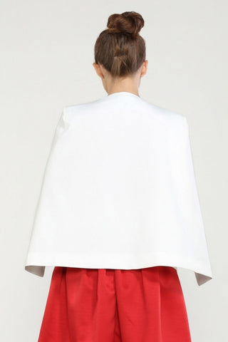 White 'In The Wind' Cape Blazer