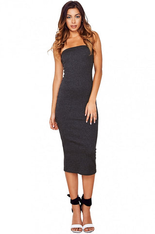 'Taylor' Ribbed Strapless Dress