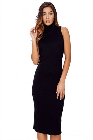 'Rebecca' Racerback Turtleneck Dress