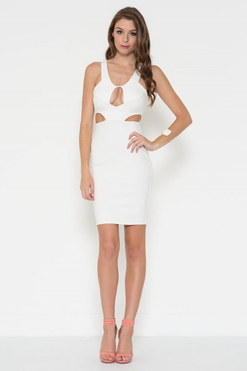 Cut-Out Top Ponti Verona Dress