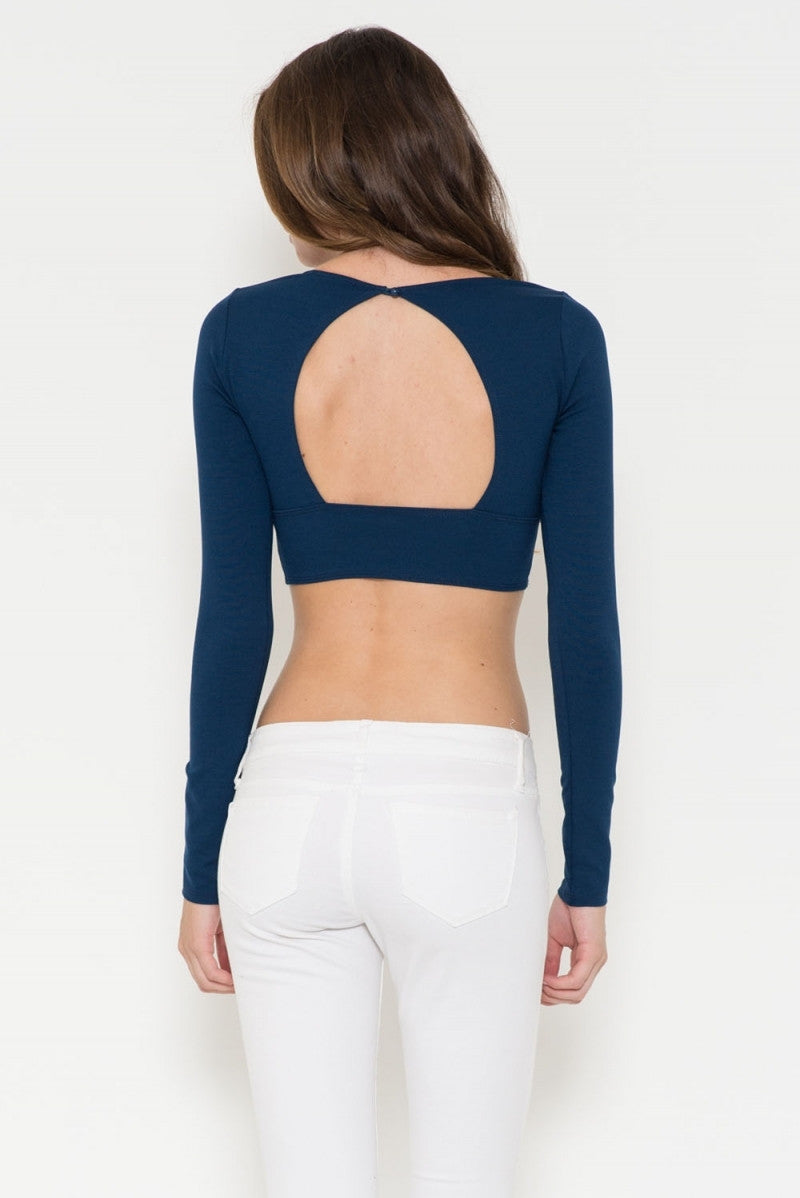 Ponti Cross Front Crop Top